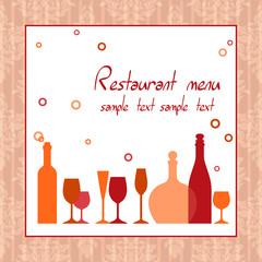 Alcohol bar or restaurant menu