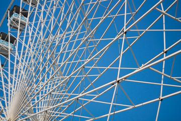 Structure métallique d'une grande roue
