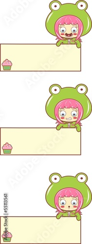 set CUPCAKE CHILD SAPO - PLAQUE