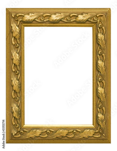 Antique Gold Vertical Picture Frame