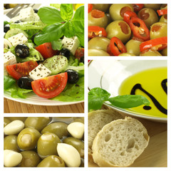Collage of mediterranean dishes