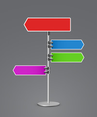 direction sign 3d icon