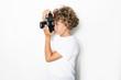 Kind fotografiert