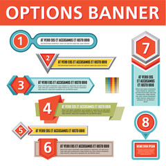 Options Vector Banners for Creative Infographics