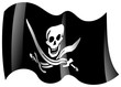 piraten fahne wehend pirate flag waving