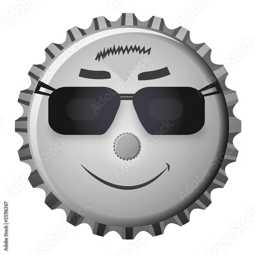 Kronkorken Smiley Cool