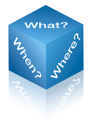 What, when, where. Cube