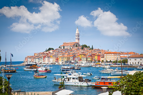 Old Istrian town in Rovinj, Croatia.