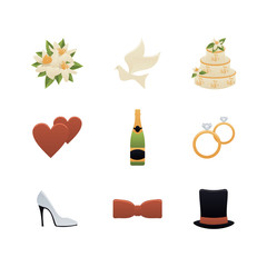 Wedding Planning Icons