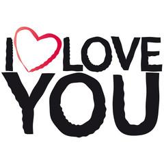 I love you - Stempel