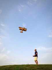 Pilot and RC plane