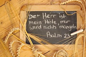 Zum Erntedank Psalm 23