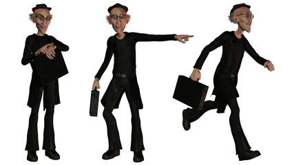 Karikatur Geschäftsmann