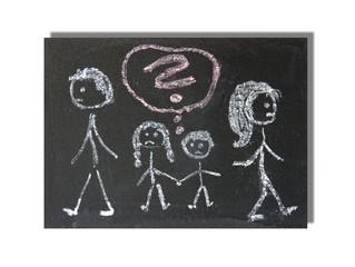 Scheidungskinder - Kinderzeichnung
