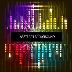 illustration of music equaliser in shiny background