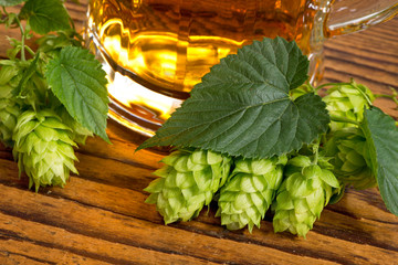 still life with hops