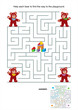 Maze game for kids - teddy bears - 55120986