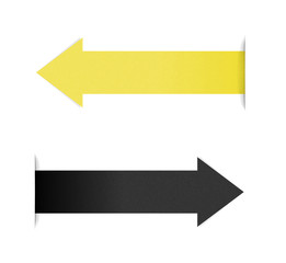 The yellow and black arrow