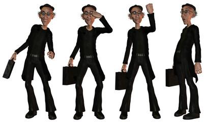 Illustration Geschäftsmann diverse Posen