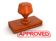 Rubber Stamp Approved (clipping path included)