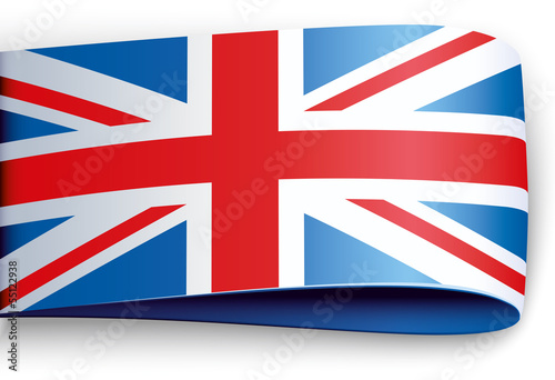 vector product label british flag