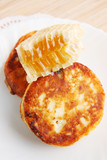 cottage cheese pancakes and honey