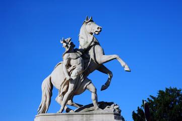 Zentauer Figur mit Pferd