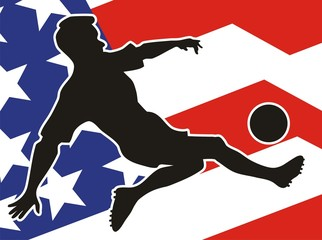 American Soccer player in action