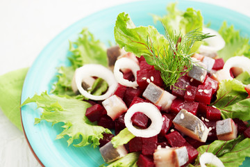 salad of beets and herring