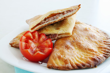 cheburek with tomato