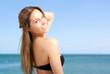 Beautiful bikini woman
