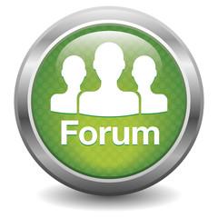 Forum icon. green