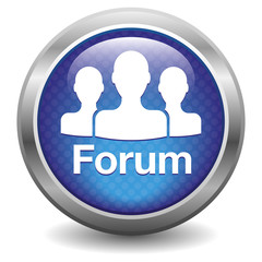 Forum icon. blue