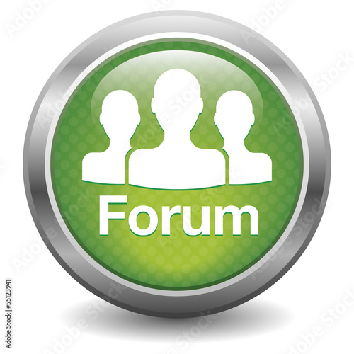 Forum icon. green