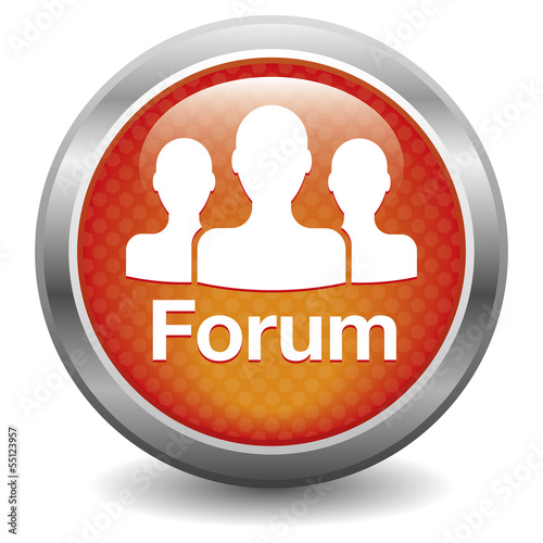 Forum icon. red