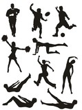 Sports and Fitness Silhouettes