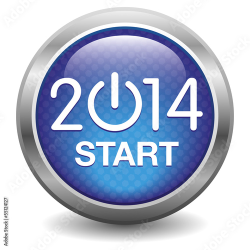 2014 Start blue button