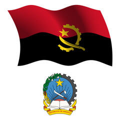 angola wavy flag and coat