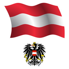 austria wavy flag and coat