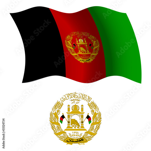 afghanistan wavy flag and coat