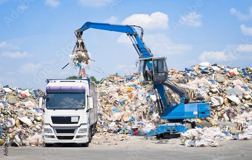 Leinwanddruck Bild Mülldeponie
