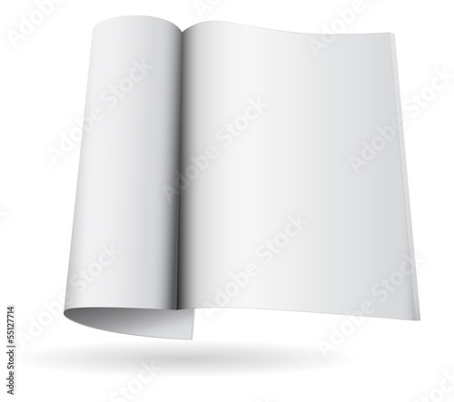 magazine blank icon template 3d
