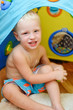 baby in toy tent