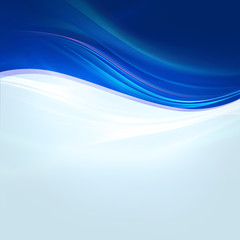 Abstract bright blue waves on light blue background