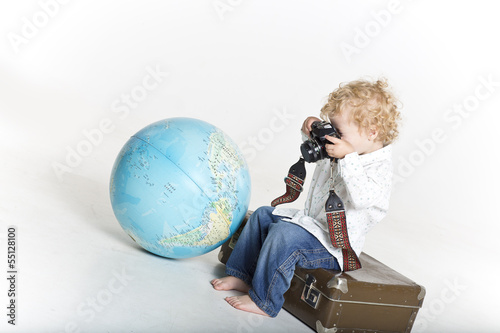 Super young traveling photographer