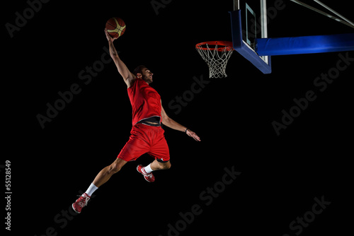 canvas print picture basketball player in action