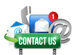 contact us sign and concept illustration design