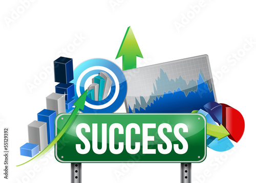 success sign and set concept illustration design