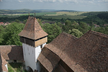 Gate Tower of Viscri fortified church, Transylvania