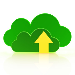 Upload to the cloud  Cloud computing concept